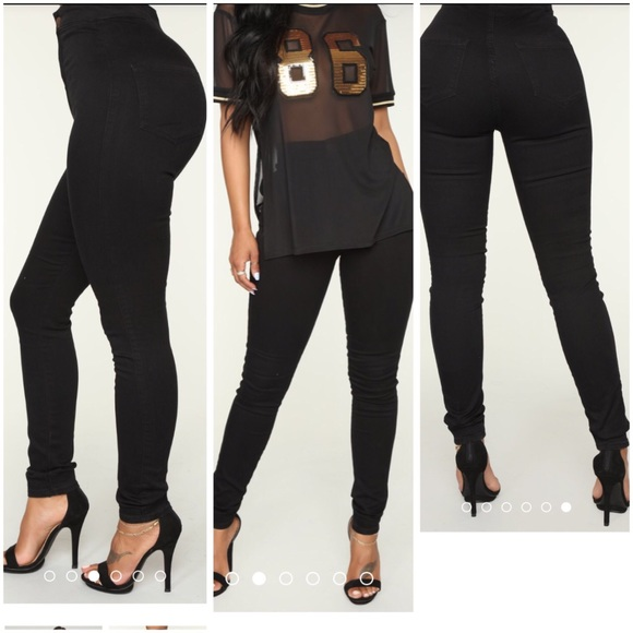 Luxe Ultra High Waist Skinny Jeans Black NWT